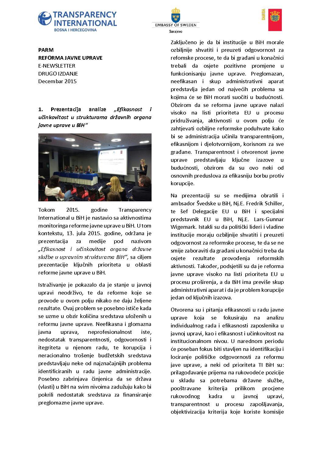 PARM Newsletter II
