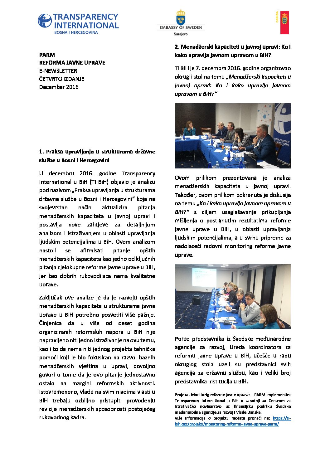 PARM Newsletter IV